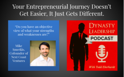 YOUR ENTREPRENEURIAL JOURNEY DOESN'T GET EASIER, IT JUST GETS DIFFERENT